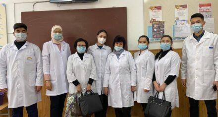 Сотрудники, студенты КГМА и КРСУ провели санитарно-просветительную работу среди школьников