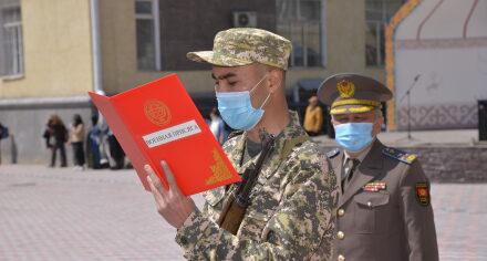 В КГМА прошла мероприятие посвященное принятию военной присяги курсантов -мужчин